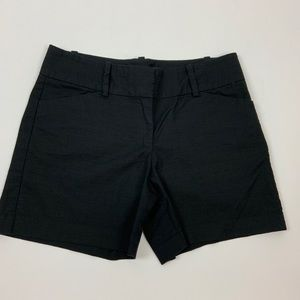 Ann Taylor Trouser Black Shorts Size 6 Cotton